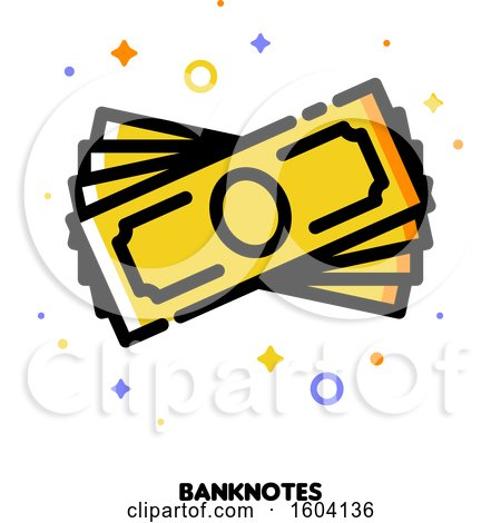 Clipart of a Cash Money Banknotes Icon - Royalty Free Vector Illustration by elena