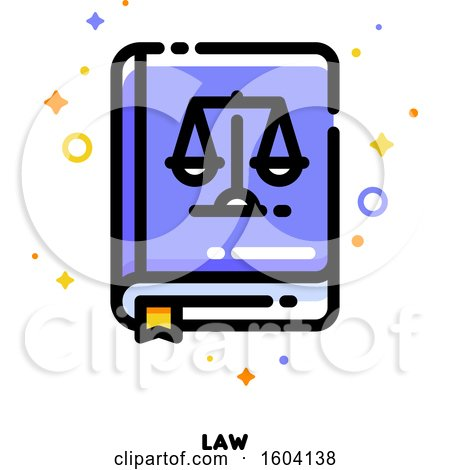 Clipart of a Law Book Justice Icon - Royalty Free Vector Illustration by elena