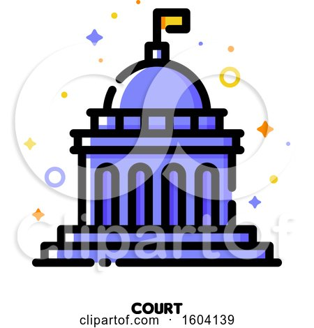 Clipart of a Court Icon - Royalty Free Vector Illustration by elena