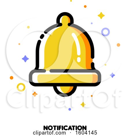 Clipart of a Bell Notification Icon - Royalty Free Vector Illustration by elena