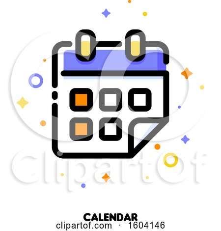 Clipart of a Calendar Icon - Royalty Free Vector Illustration by elena