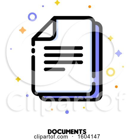 Clipart of a Documents Icon - Royalty Free Vector Illustration by elena