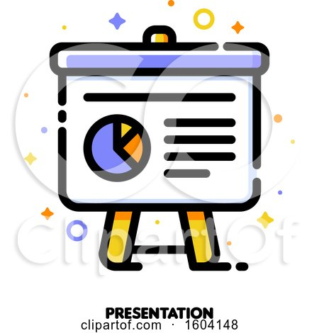 Clipart of a Presentation Icon - Royalty Free Vector Illustration by elena
