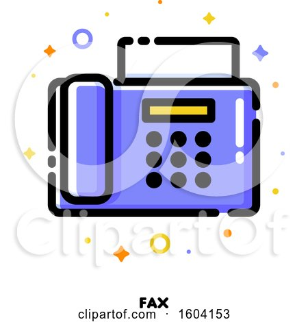 Clipart of a Fax Machine Icon - Royalty Free Vector Illustration by elena