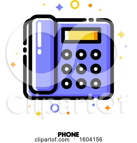 Clipart of a Telephone Icon - Royalty Free Vector Illustration by elena