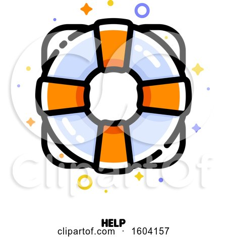 Clipart of a Life Saver Help Icon - Royalty Free Vector Illustration by elena