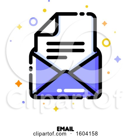 Clipart of a Letter Email Icon - Royalty Free Vector Illustration by elena