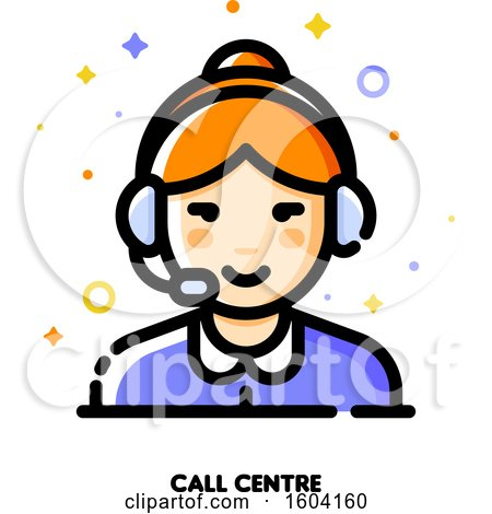Clipart of a Call Centre Icon - Royalty Free Vector Illustration by elena