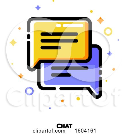 Clipart of a Chat Messenger Icon - Royalty Free Vector Illustration by elena