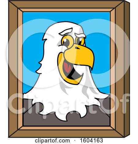 Clipart of a Bald Eagle School Mascot Character Portrait - Royalty Free Vector Illustration by Toons4Biz