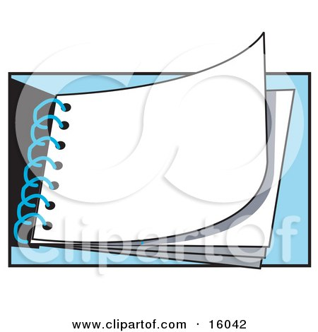 Solid White Page In A Notepad Clipart Illustration by Andy Nortnik