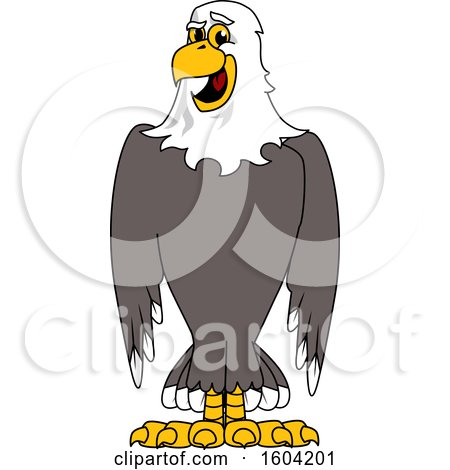 Clipart of a Bald Eagle School Mascot Character - Royalty Free Vector Illustration by Toons4Biz
