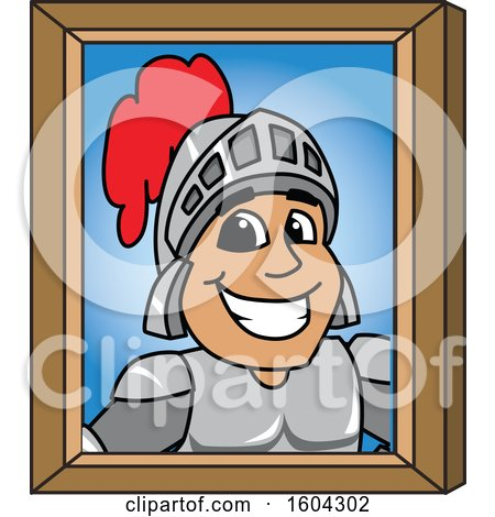 Clipart of a Knight School Mascot Character Portrait - Royalty Free Vector Illustration by Toons4Biz