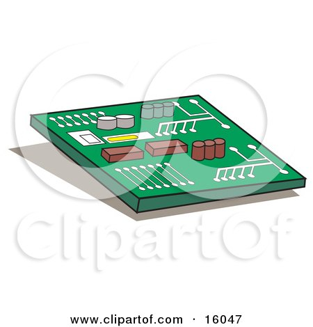 Computer Chip or Motherboard Posters, Art Prints