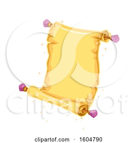 Clipart of a Magical Open Scroll - Royalty Free Vector Illustration by BNP Design Studio