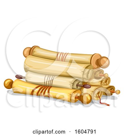Clipart of Old Paper Scrolls - Royalty Free Vector Illustration by BNP Design Studio