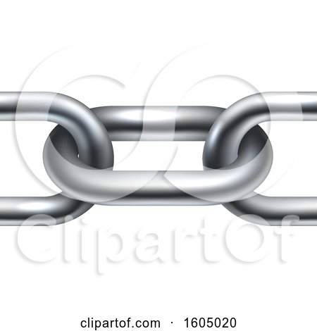 Clipart of a Close up of Chain Links - Royalty Free Vector Illustration by AtStockIllustration