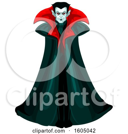 Clipart of a Vampire - Royalty Free Vector Illustration by Vector Tradition SM
