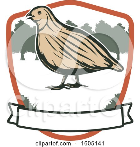 Clipart of a Quail in a Shield - Royalty Free Vector Illustration by Vector Tradition SM