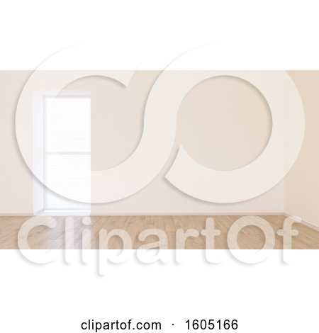 . Clipart of a 3d Empty Room Interior   Royalty Free Illustration by