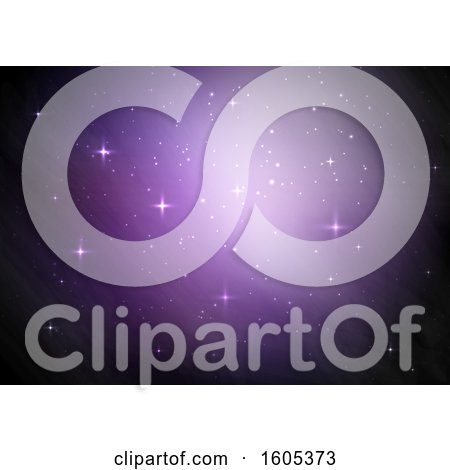 Clipart of a Purple Twinkling Star Background - Royalty Free Vector Illustration by KJ Pargeter