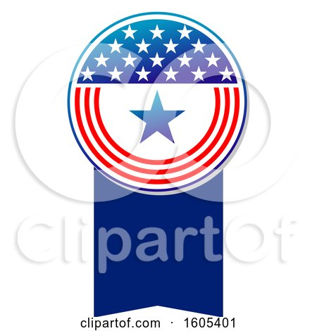 Clipart of a Patriotic American Design - Royalty Free Vector Illustration by Vector Tradition SM