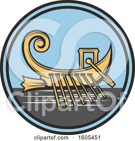 Clipart of a Boat - Royalty Free Vector Illustration by Vector Tradition SM