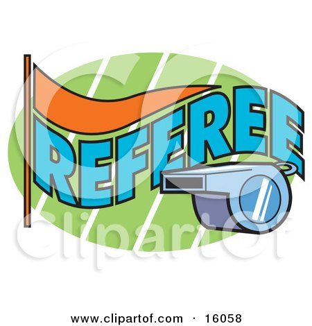 Referee's Whistle Clipart Illustration by Andy Nortnik