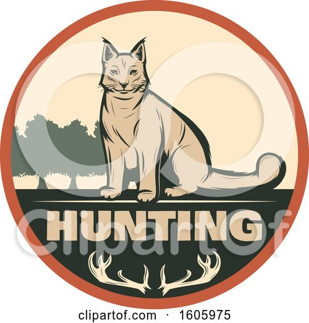 Clipart of a Lynx Hunting Design - Royalty Free Vector Illustration by Vector Tradition SM