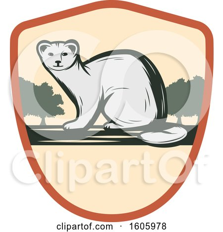 Clipart of a Weasel Design in a Shield - Royalty Free Vector Illustration by Vector Tradition SM