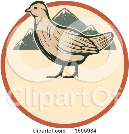 Clipart of a Bird Design - Royalty Free Vector Illustration by Vector Tradition SM