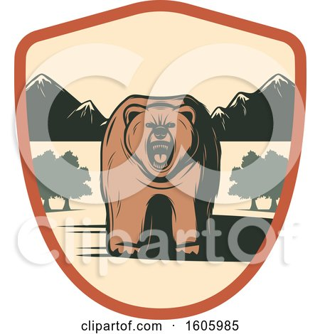 Clipart of a Bear Design - Royalty Free Vector Illustration by Vector Tradition SM