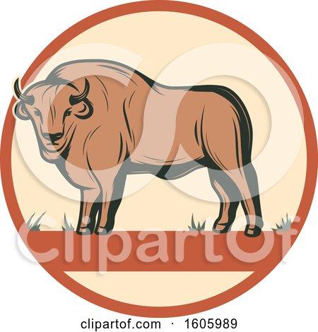 Clipart of a Buffalo Design - Royalty Free Vector Illustration by Vector Tradition SM
