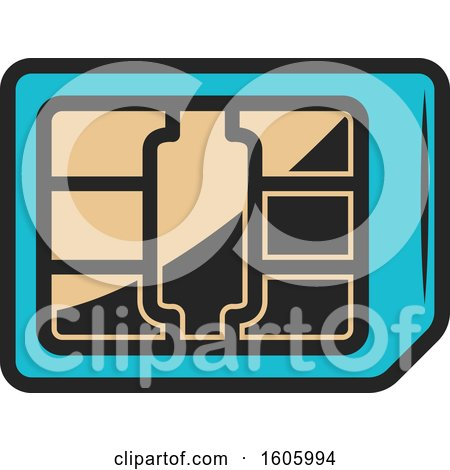 Clipart of a Chip - Royalty Free Vector Illustration by Vector Tradition SM