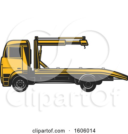 Clipart of a Tow Truck - Royalty Free Vector Illustration by Vector Tradition SM