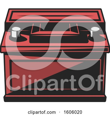Clipart of a Car Battery - Royalty Free Vector Illustration by Vector Tradition SM