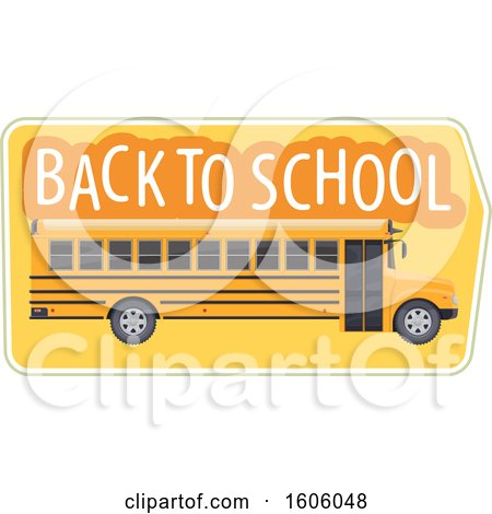 Clipart of a Back to School Design with a Bus - Royalty Free Vector Illustration by Vector Tradition SM