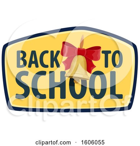 Clipart of a Back to School Design with a Bell - Royalty Free Vector Illustration by Vector Tradition SM