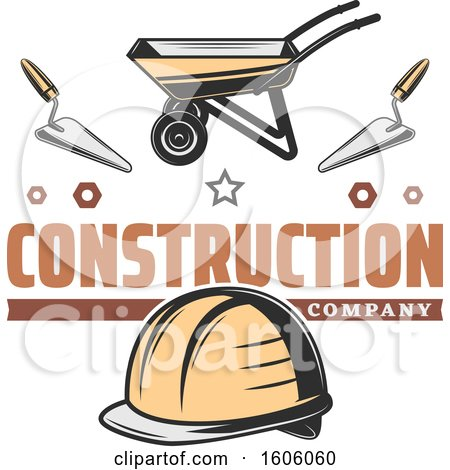 Clipart of a Construction Company Design - Royalty Free Vector Illustration by Vector Tradition SM