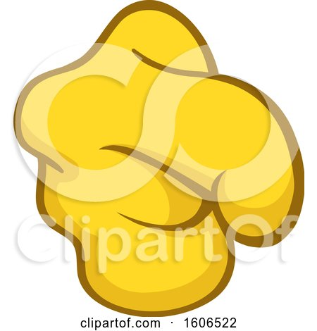 Clipart of a Cartoon Pointing Yellow Emoji Hand - Royalty Free Vector Illustration by yayayoyo