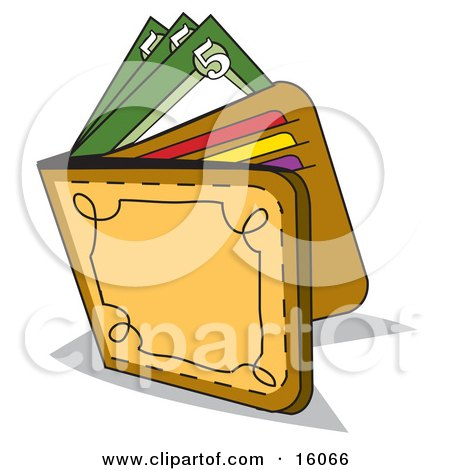 Clipart of a Black and White Hand Holding a Wallet - Royalty Free ...