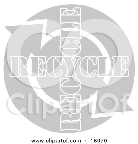 Two Arrows Moving In A Circular Clockwise Motion Around Recycle Text Posters, Art Prints
