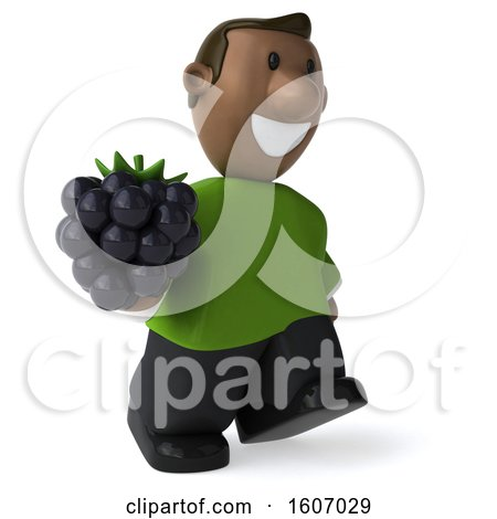 Clipart of a 3d Casual Black Man Holding a Blackberry, on a White Background - Royalty Free Illustration by Julos