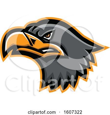 Clipart of a Eurasian Sea Eagle Mascot Head - Royalty Free Vector Illustration by patrimonio
