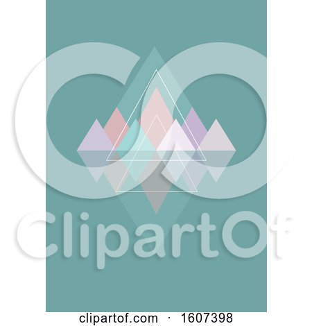 Clipart of a Geometric Background with Triangles - Royalty Free Vector Illustration by KJ Pargeter