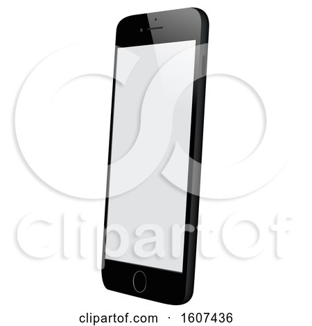 Clipart of a 3d Smart Phone - Royalty Free Vector Illustration by dero