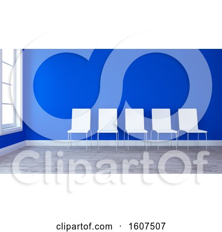 Clipart of a 3d Room Interior with Chairs - Royalty Free Illustration by KJ Pargeter