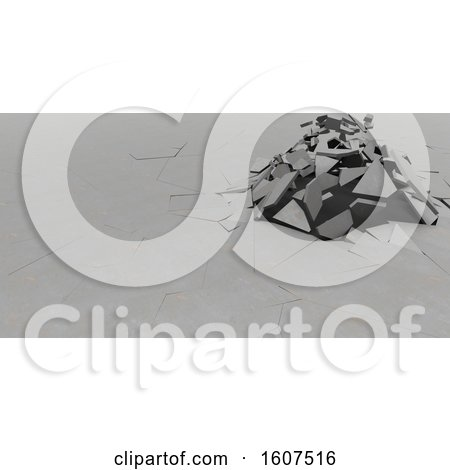Clipart of a 3d Abstract Shattered Background - Royalty Free Illustration by KJ Pargeter