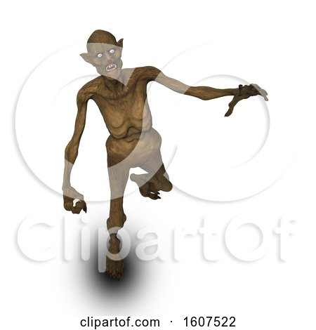 Clipart of a 3D Render of a Halloween Evil Demon Figure - Royalty Free Illustration by KJ Pargeter