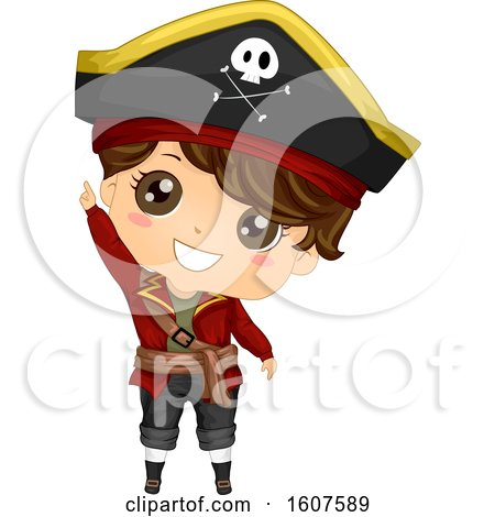 Pirate Kid Boy Costume Point up Illustration by BNP Design Studio
